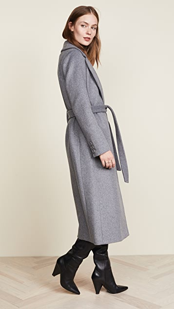 Soia & Kyo Adelaida Wool Coat with Removable Fur Trim