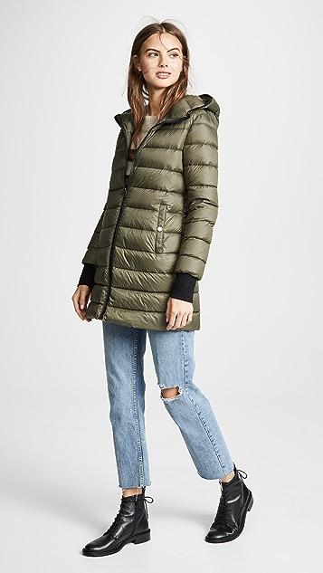 Soia & Kyo Lois Utility Down Coat with Fur Trim