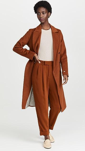 SOIA & KYO Anya Wool Coat