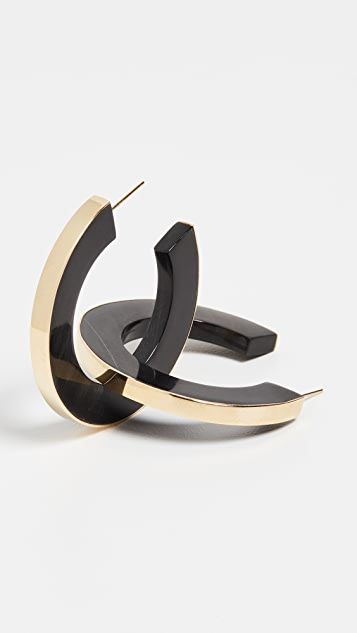 Soko Gilded Horn Paddle Hoops