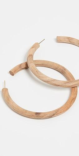 Soko - Arlie 长木质圈式耳环