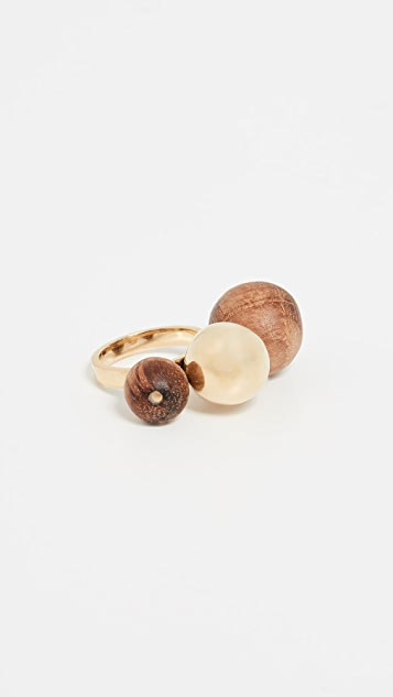 Soko Teak Dilys Cocktail Ring
