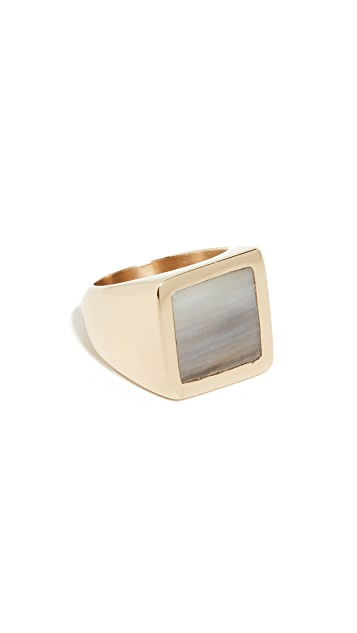 Soko Horn Square Signet Ring