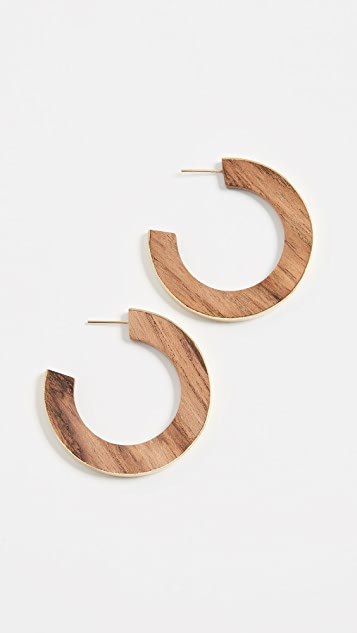 Soko Gilded Wood Paddle Hoops