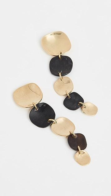 Soko Organic Mixed Material Square Earrings