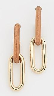 Soko Wood Capped Link Earrings