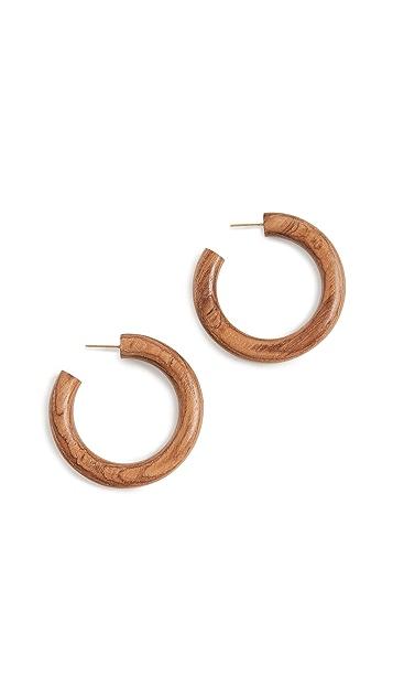 Soko Arlie 木质圈式耳环