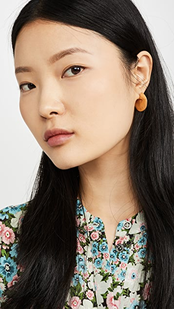 Soko Ripple Disc Hoop Earrings