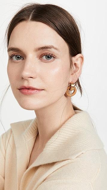 Soko Shujaa Wood Link Earrings