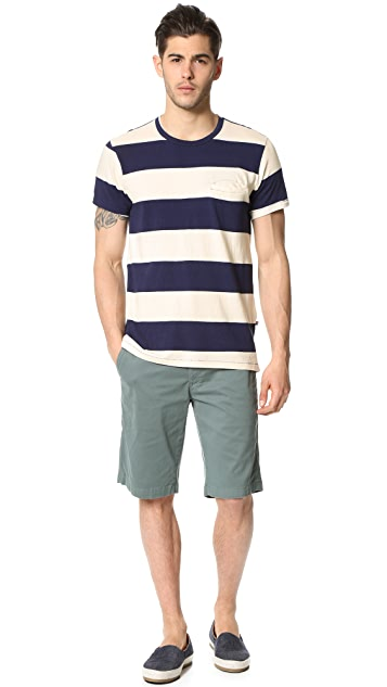 Sol Angeles Rugby Stripe Welt Tee