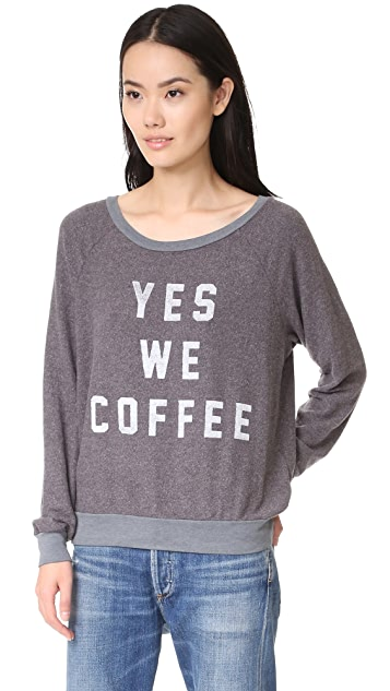 Sol Angeles Yes We Coffee Sweatshirt