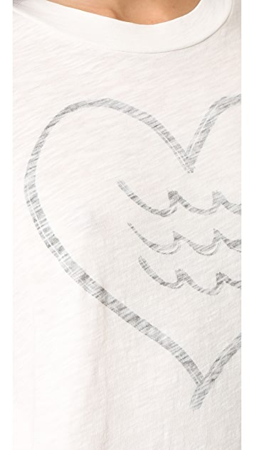 Sol Angeles Corazon Rolled Sleeve Tee