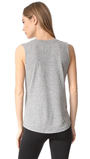 Sol Angeles Fiesta Raw Sleeve Muscle Tank