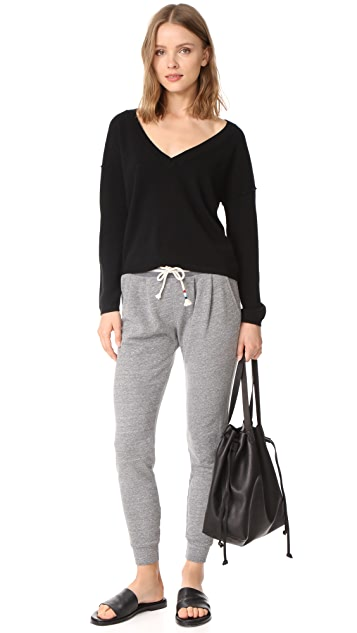 Sol Angeles Heather Pleat Sweatpants