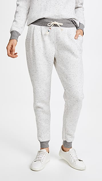 Sol Angeles Peppered Pleated Jogger - Light Grey
