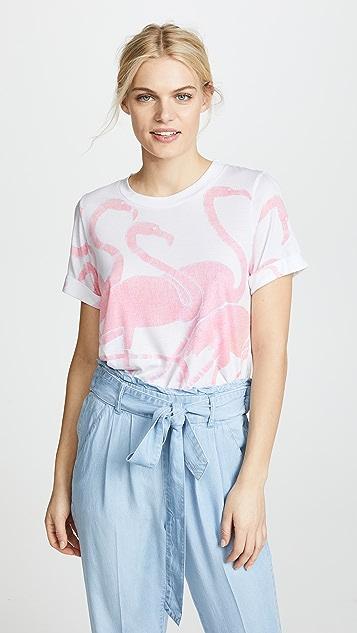 Sol Angeles Flamingo Rolled Crew Tee