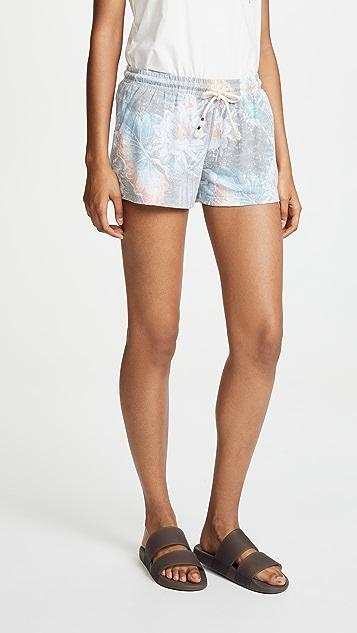 Sol Angeles Aqua Flora Flounce Shorts