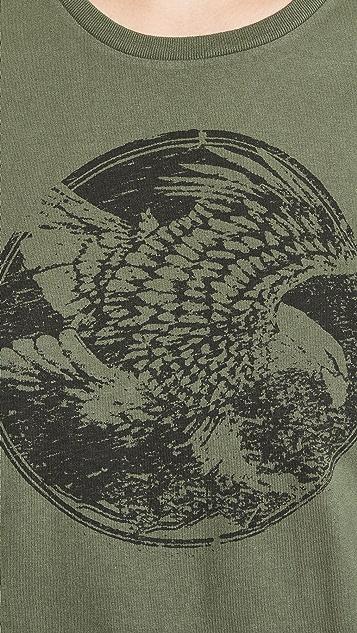 Sol Angeles Футболка с разрезами по бокам и изображением орла