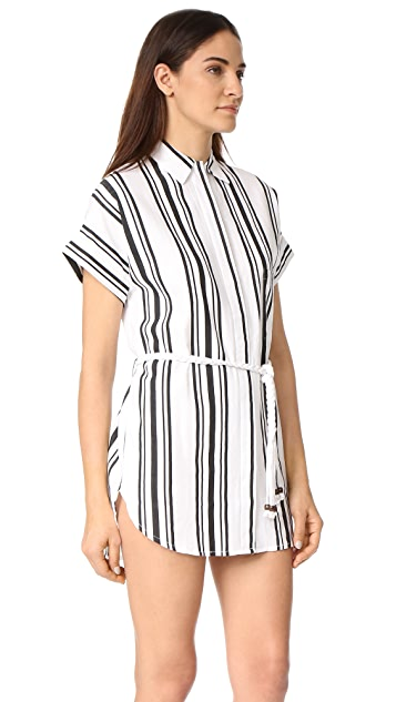 Soleil Striped Linen Beach Dress