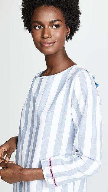 Soleil Chambray Open Back Dress