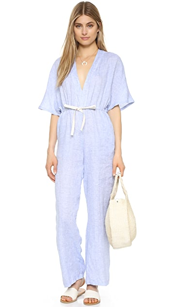 Solid & Striped V Jumpsuit