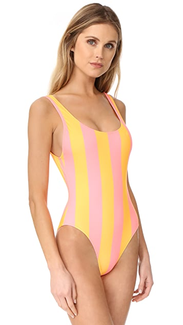 Solid & Striped The Anne Marie Stripe One Piece