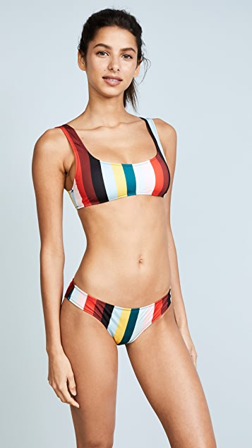 Solid & Striped The Elle Paradise Stripe Bikini Bottoms