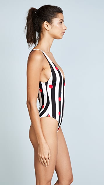 Solid & Striped The Michelle Cherries One Piece Swimsuit
