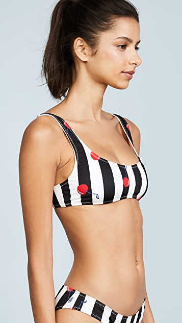 Solid & Striped The Elle Cherries Bikini Top