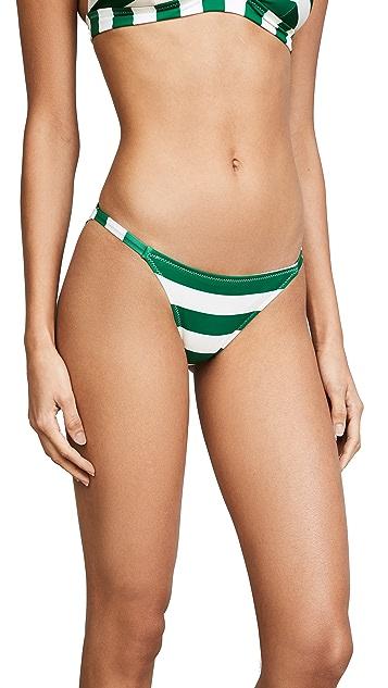 Solid & Striped The Morgan Emerald Stripe Bikini Bottoms