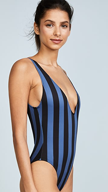Solid & Striped The Michelle Striped One Piece