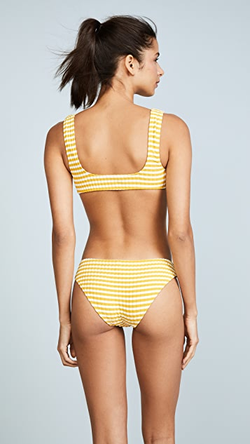 Solid & Striped The Elle Stripe Rib Bikini Top