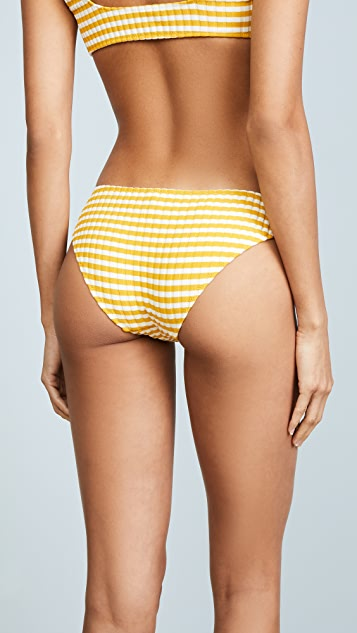 Solid & Striped The Elle Stripe Rib Bikini Bottoms