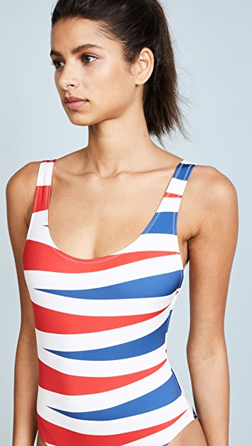 Solid & Striped The Anne Marie Backgammon One Piece Swimsuit