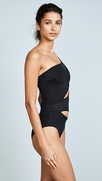 Solid & Striped The Louise Black One Piece