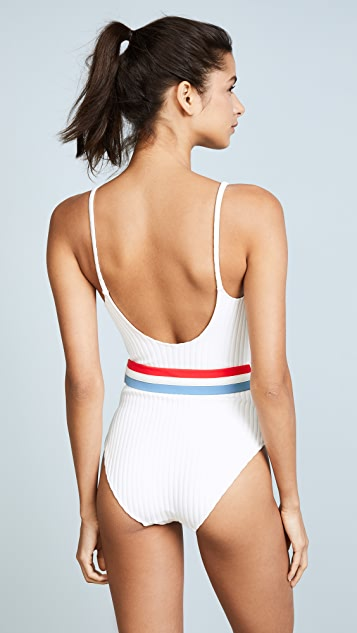 Solid & Striped The Nina Rib One Piece Swimsuit