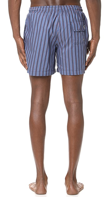 Solid & Striped The Classic Amalfi Stripe Trunks