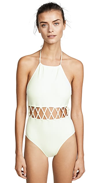 Solid & Striped Swim Team Barbara One Piece