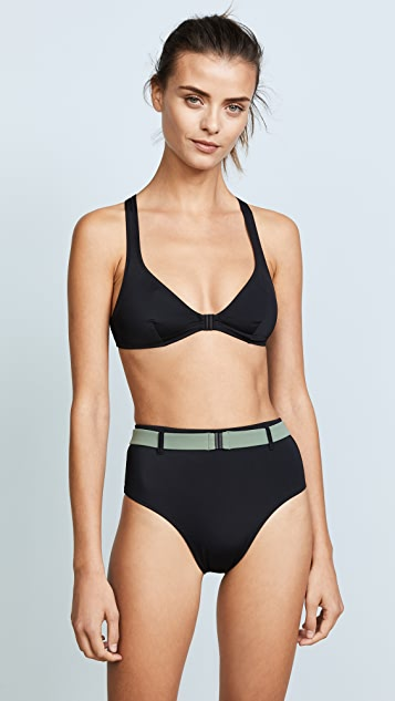 Solid & Striped Swim Team Josephine Bikini Top
