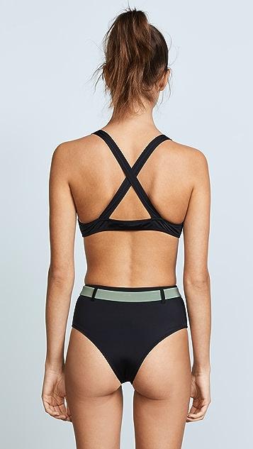 Solid & Striped Swim Team Josephine Bikini Top