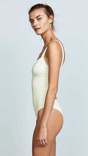 Solid & Striped Swim Team Hailey One Piece
