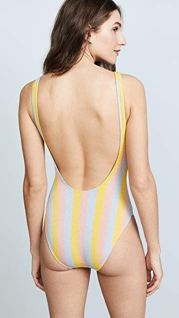 Solid & Striped Anne-Marie Maui Shimmer One Piece