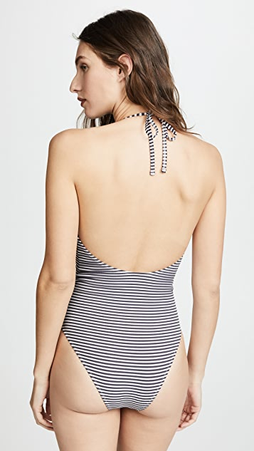 Solid & Striped Nadine Seersucker One Piece