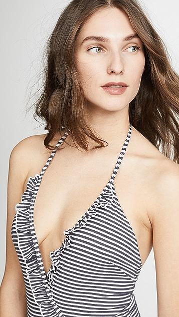 Solid & Striped Nadine Seersucker One Piece