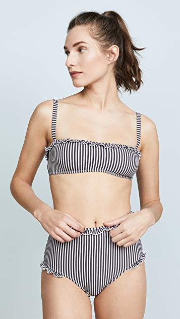 Solid & Striped Leslie Seersucker Top