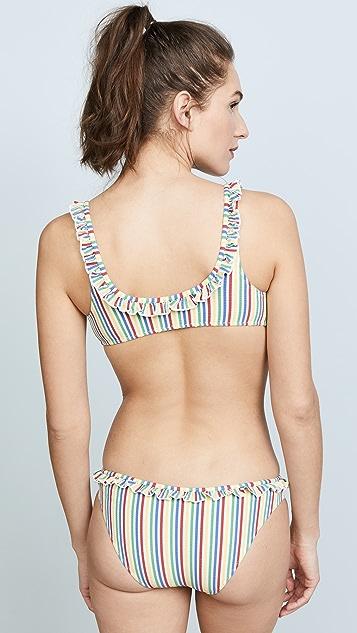 Solid & Striped Milly Seersucker Bikini Top