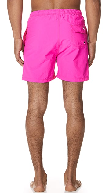 Solid & Striped The Classic Neon Pink Trunks