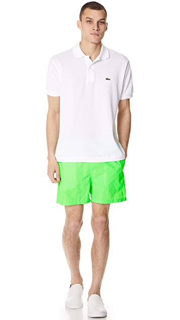 Solid & Striped The Classic Neon Green Trunks