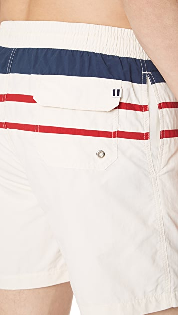Solid & Striped The Classic White Trunks with Stripes