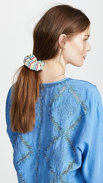 Solid & Striped The Multi Seersucker Scrunchie